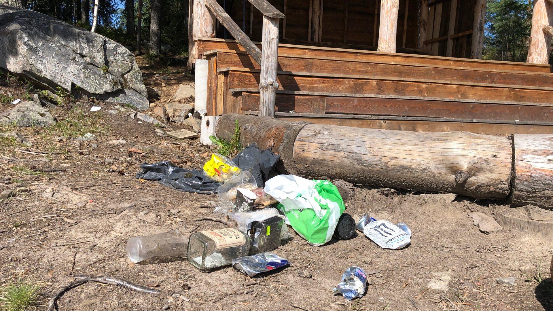 Hærverk og forsøpling ved gapahuk