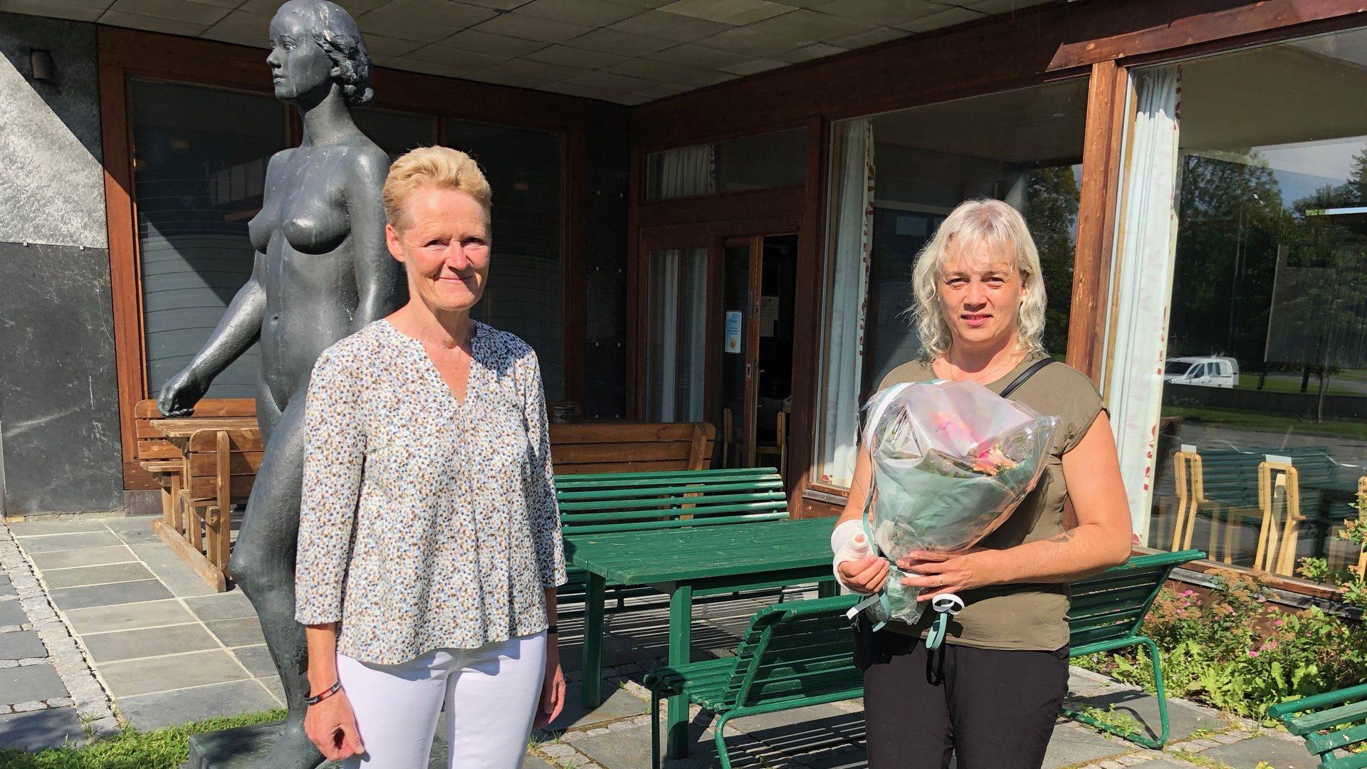 Hedret for sin innsats under brannen i Vikersund