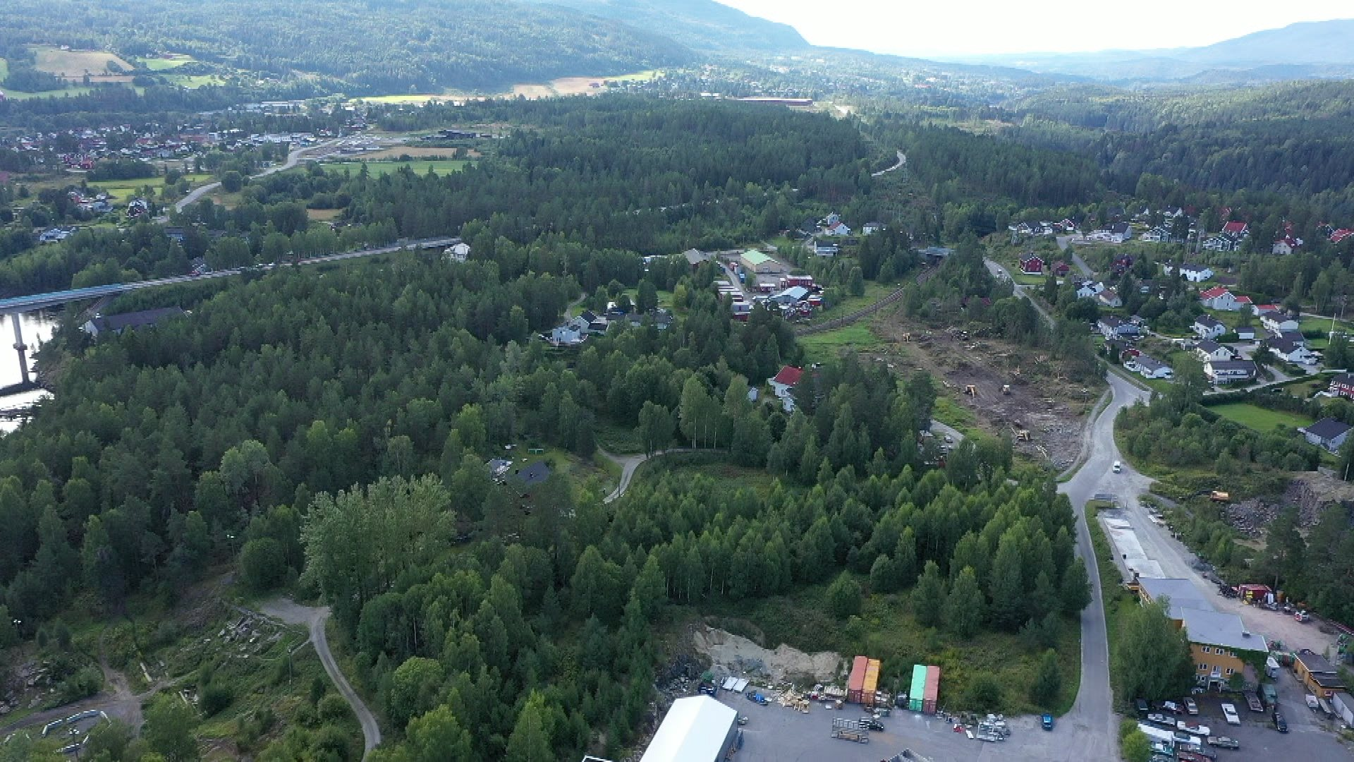Næringsområder i Katfoss og Vikersund