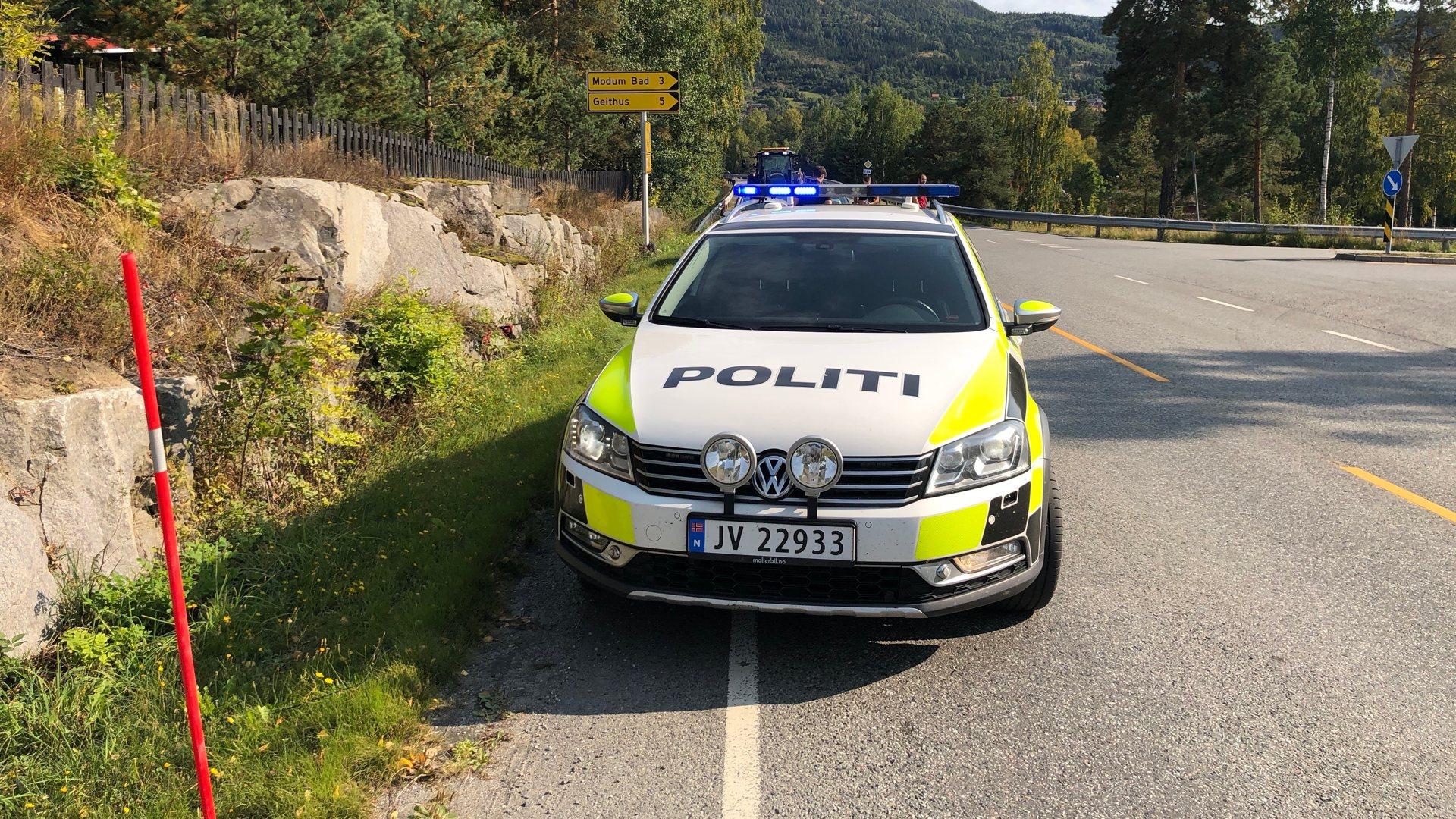 Trafikkuhell i Vikersund