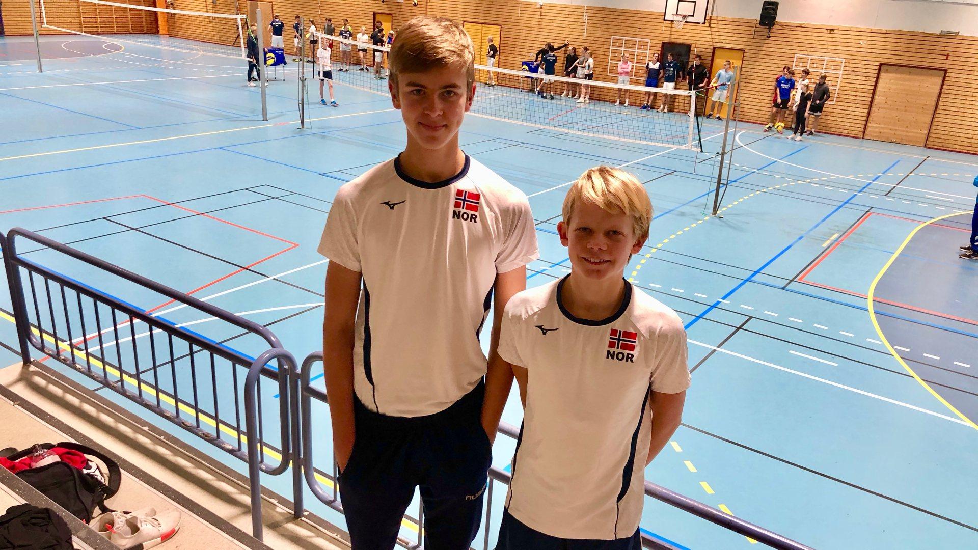 Vikersundgutter på landslaget i volleyball