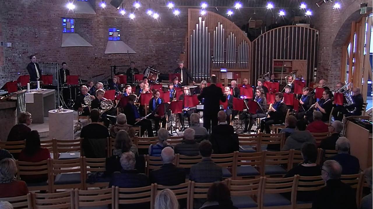 Modum Janitsjar konsert fra Åmot kirke kl. 16:00