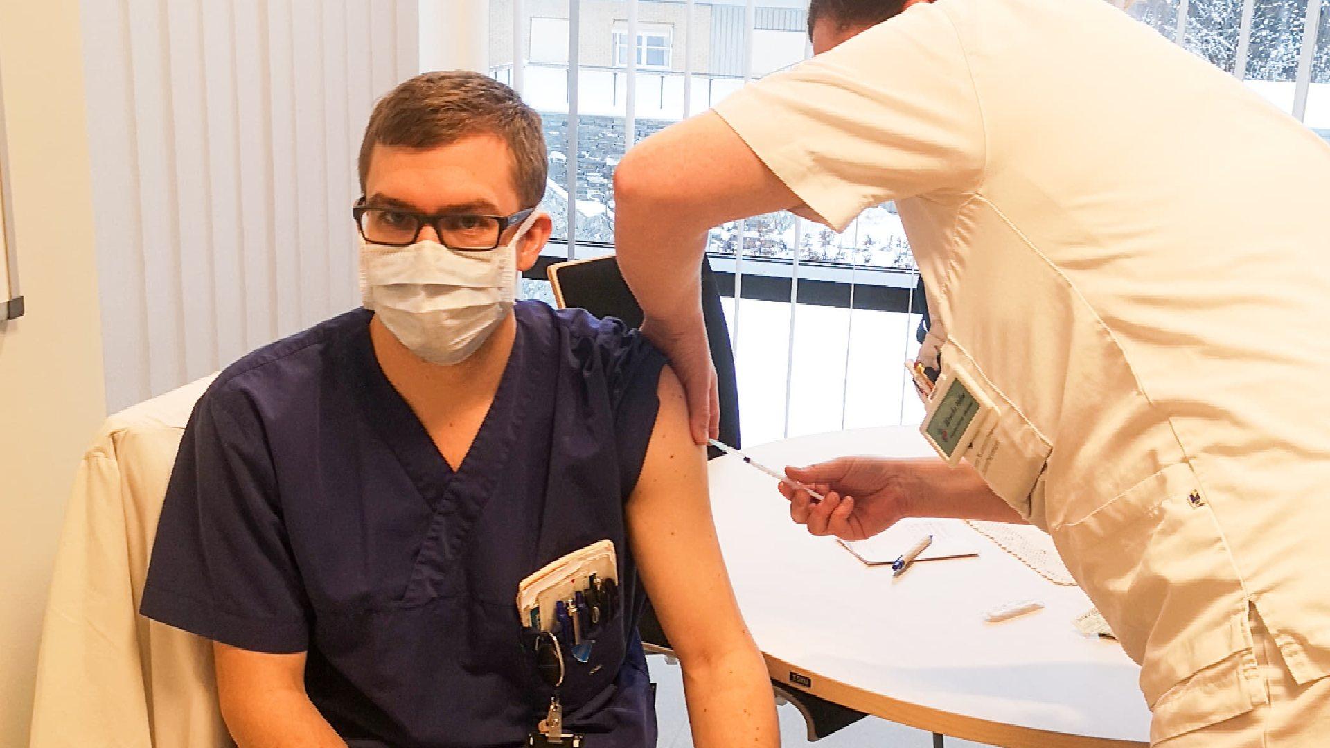 Vaksinerte helsepersonell