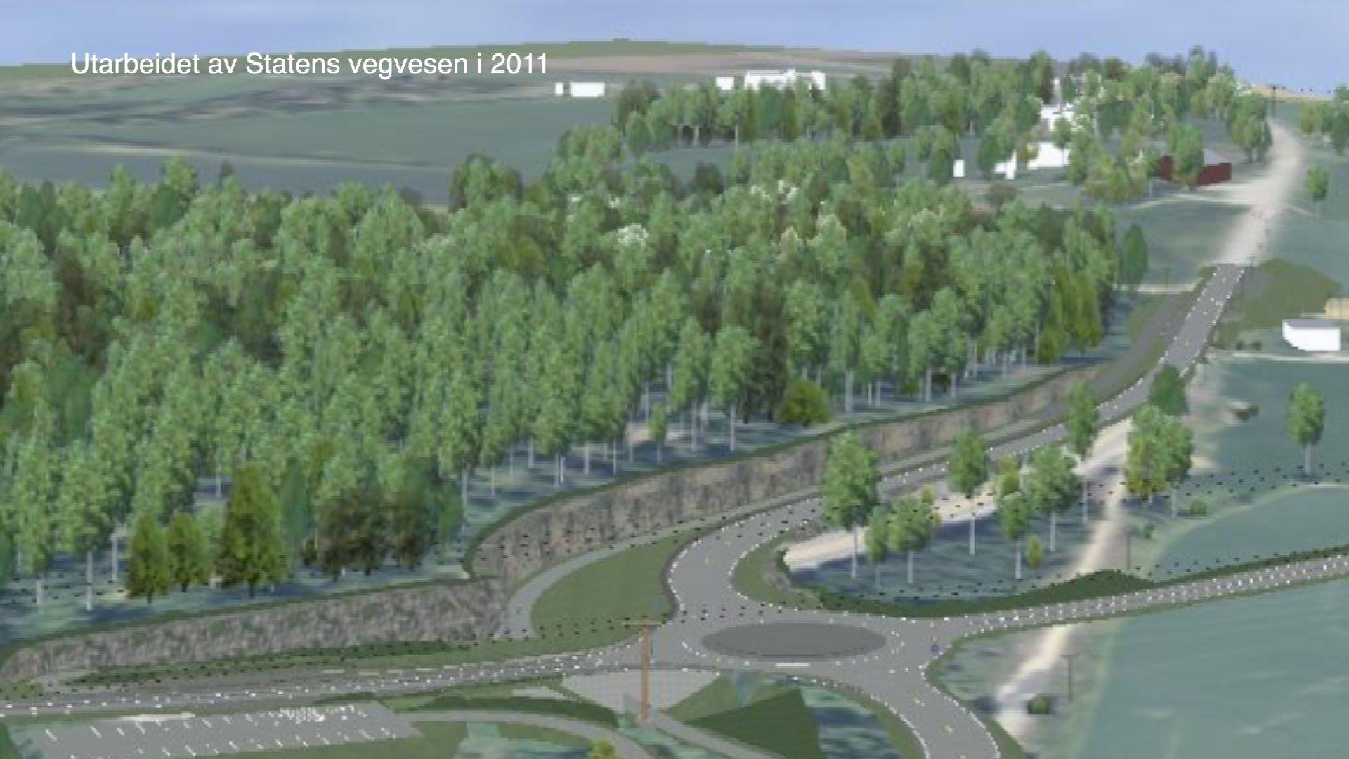 Vil ha rundkjøring ved Vikersund nord