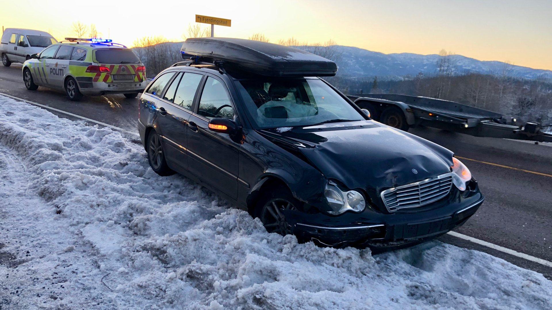 Tre biler i ulykke på Verpsletta