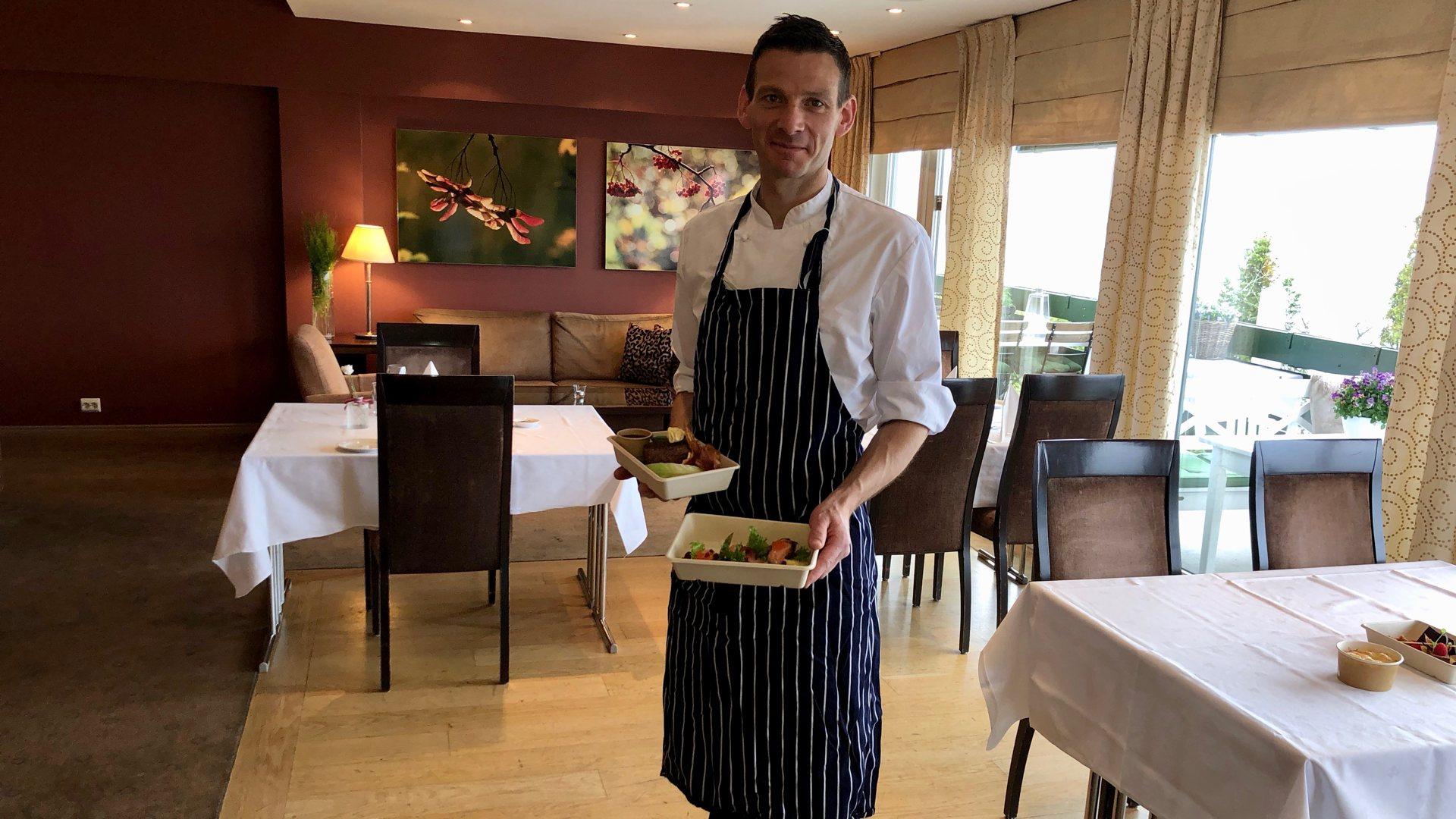 Tilbyr restaurantopplevelse hjemme. Tyrifjord hotell med nytt takeaway-tilbud