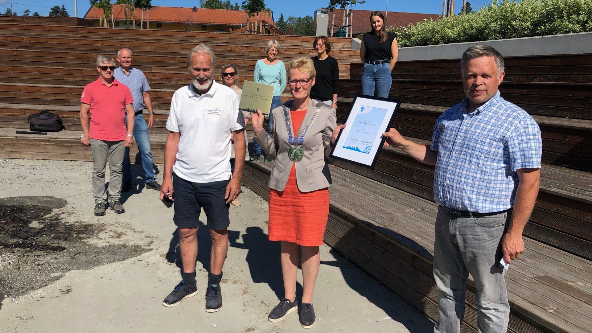 Kommunens byggeskikkpris til pollen i Vikersund