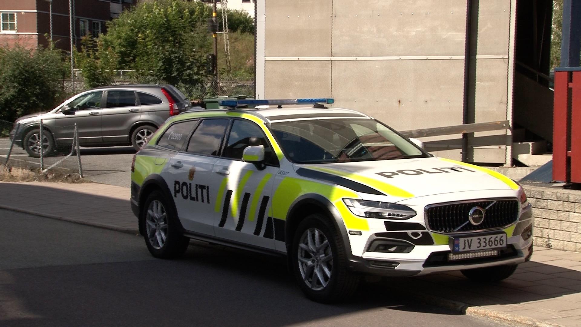 Politiaksjon i Vikersund sentrum