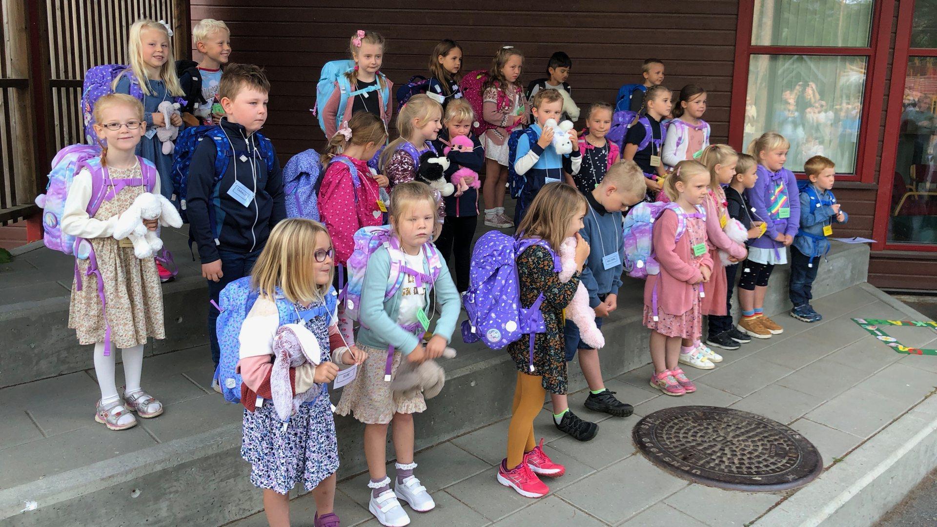 27 førsteklassinger på Sysle skole