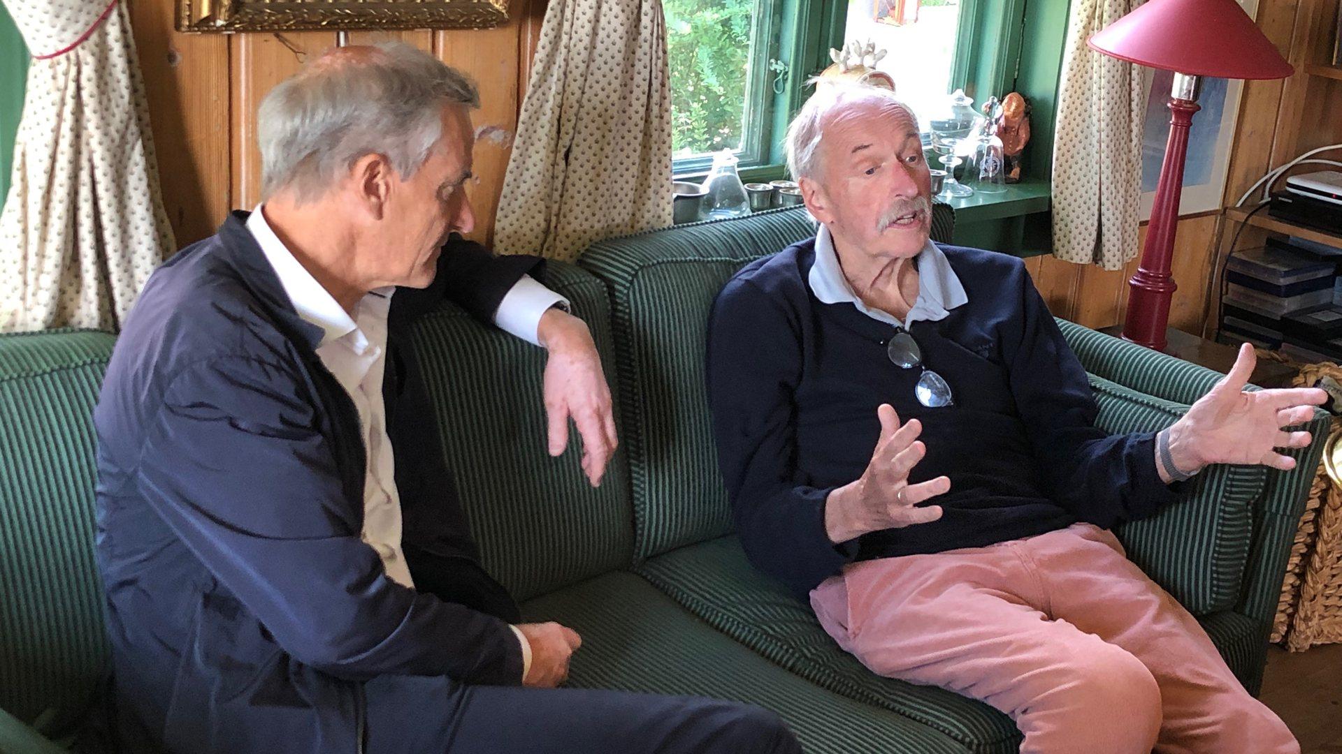 Støre besøkte Hjemmetjenesten og Johan Kaggestad